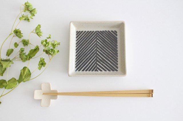正角皿 ヘリンボーン ブラウン 陶器 ORIME 波佐見焼 画像4