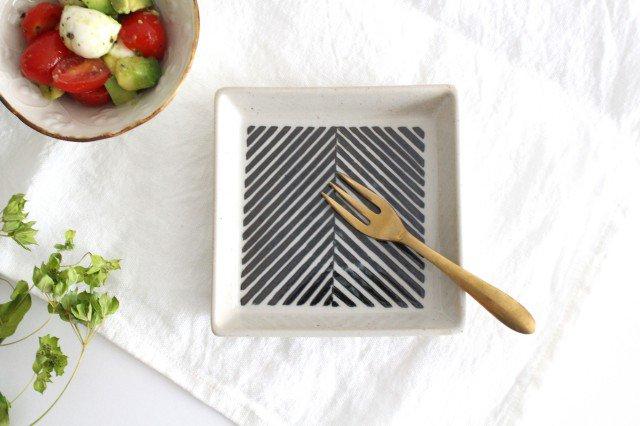 正角皿 ヘリンボーン ブラウン 陶器 ORIME 波佐見焼 画像5