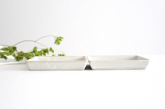 波佐見焼 ORIME ヘリンボーン 正角皿 ホワイト 陶器 画像2