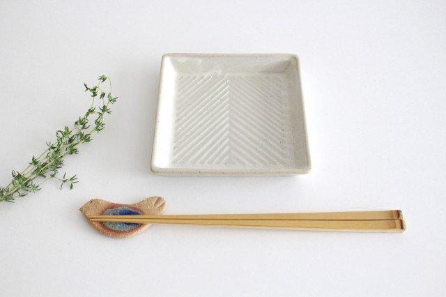 波佐見焼 ORIME ヘリンボーン 正角皿 ホワイト 陶器 画像4