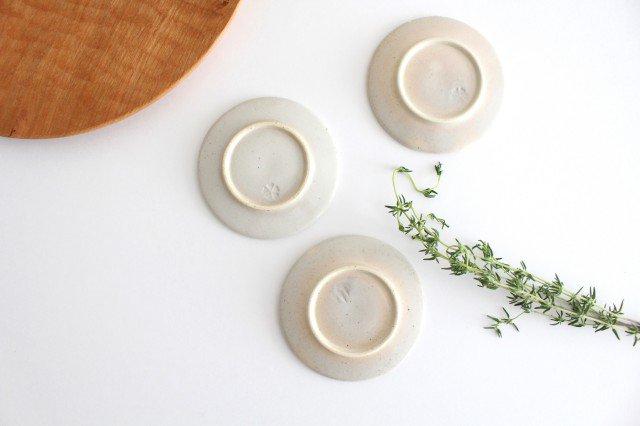 波佐見焼 ORIME ヘリンボーン 丸豆皿 ホワイト 陶器 画像2