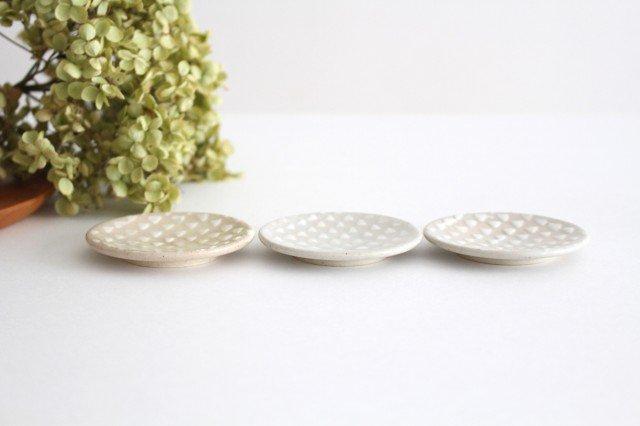 波佐見焼 ORIME 鹿の子 丸豆皿 ホワイト 陶器 画像2