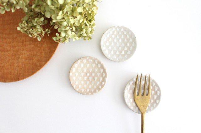 波佐見焼 ORIME 鹿の子 丸豆皿 ホワイト 陶器 画像5