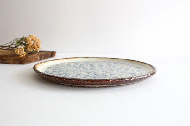 プレート皿 大 陶器 蓮見かおり 益子焼 画像2
