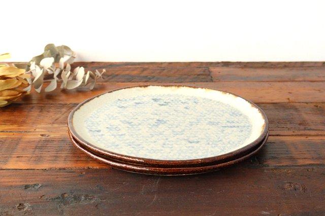 プレート皿 大 陶器 蓮見かおり 益子焼 画像5