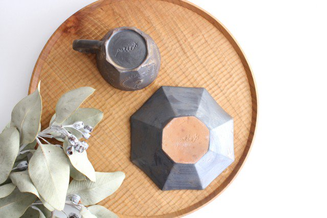 ローズマリー カップ&ソーサー ブロンズ 磁器 中村かおり 画像6