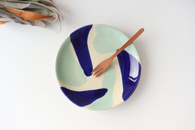 7寸皿 海 陶器 土工房 陶糸 やちむん