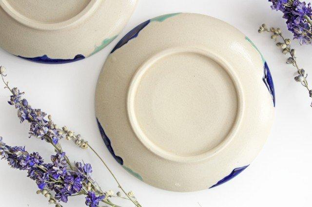 7寸皿 海 陶器 土工房 陶糸 やちむん 画像2