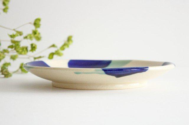 7寸皿 海 陶器 土工房 陶糸 やちむん 画像3