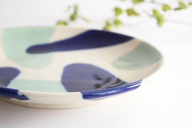 7寸皿 海 陶器 土工房 陶糸 やちむん 画像5