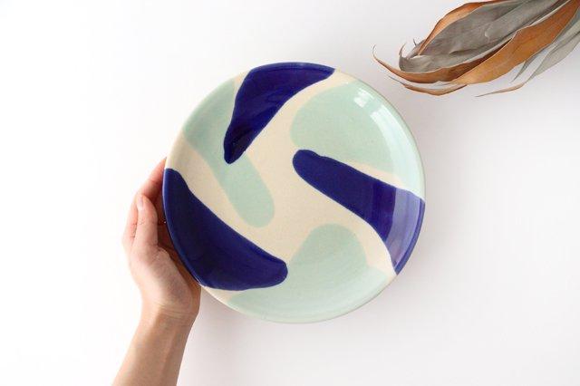 7寸皿 海 陶器 土工房 陶糸 やちむん 画像6