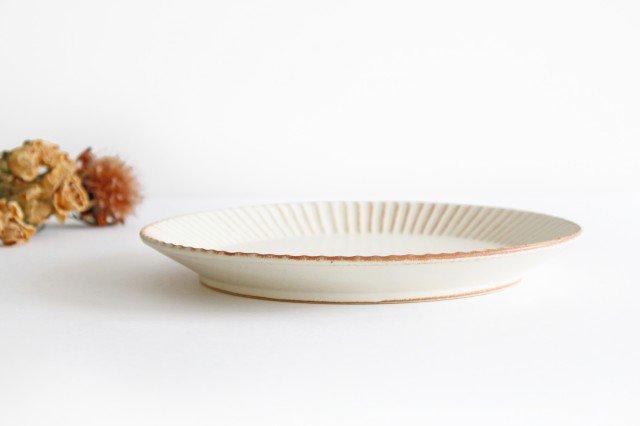 益子焼 shinogi 7寸平皿 クリーム 陶器 画像2