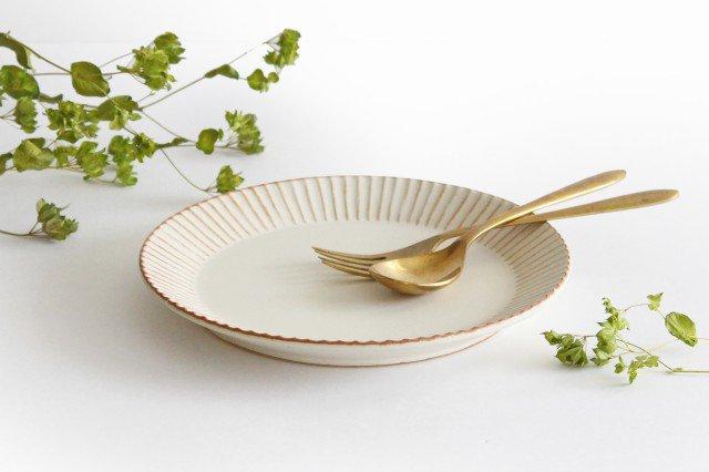 益子焼 shinogi 7寸平皿 クリーム 陶器 画像3