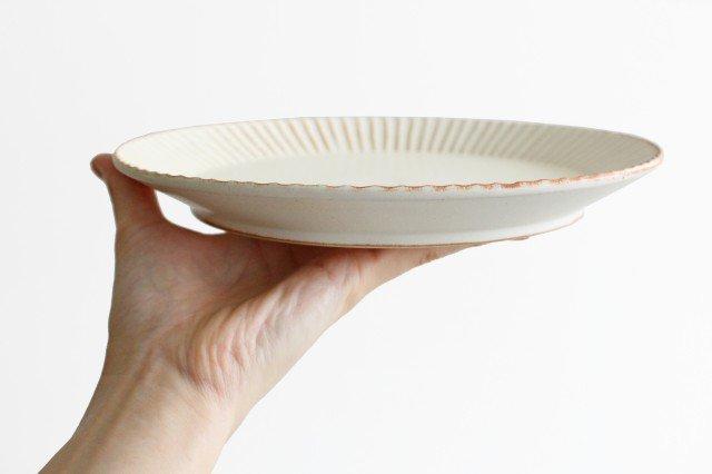 益子焼 shinogi 7寸平皿 クリーム 陶器 画像4