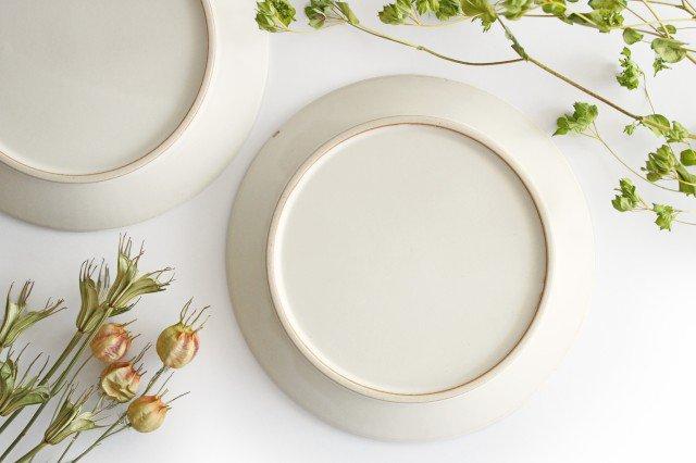 益子焼 shinogi 7寸平皿 クリーム 陶器 画像5