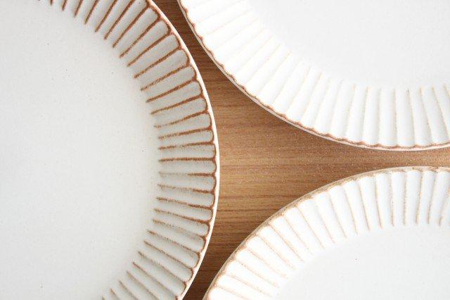 益子焼 shinogi 7寸平皿 クリーム 陶器 画像6