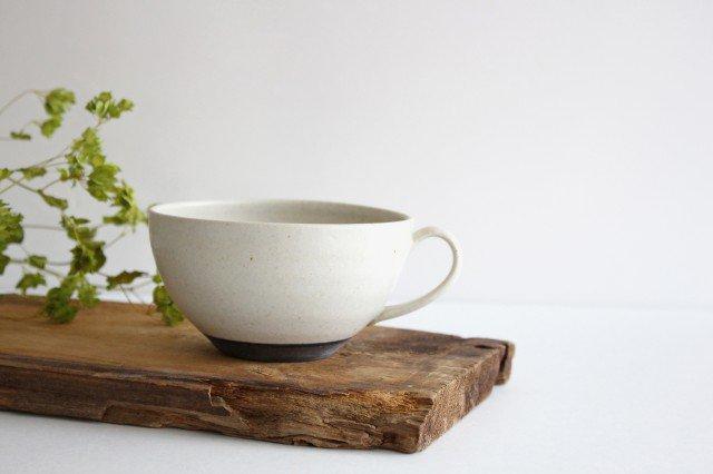 手付きボウル 中 ホワイト 陶器 陶房マルヨウ