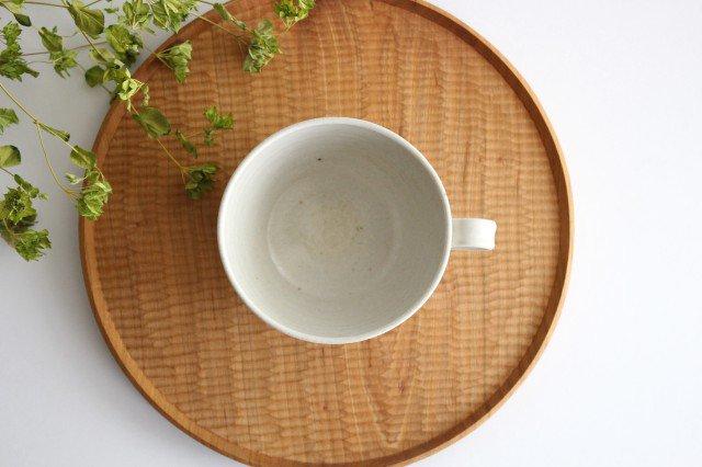 手付きボウル 中 ホワイト 陶器 陶房マルヨウ 画像6