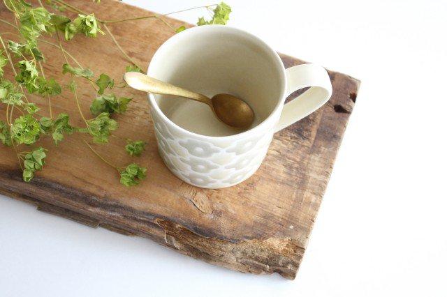 マグカップ グレーフラワー 磁器 すこし屋 砥部焼 画像6