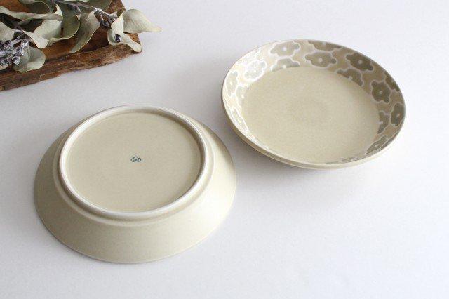 丸皿中 グレーフラワー 磁器 すこし屋 砥部焼 画像2