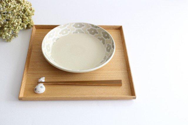 丸皿中 グレーフラワー 磁器 すこし屋 砥部焼 画像3