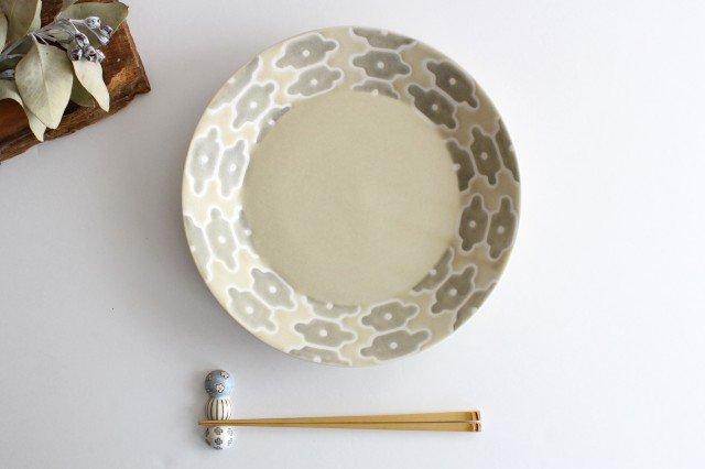 パスタ皿 グレーフラワー 磁器 すこし屋 砥部焼 画像3