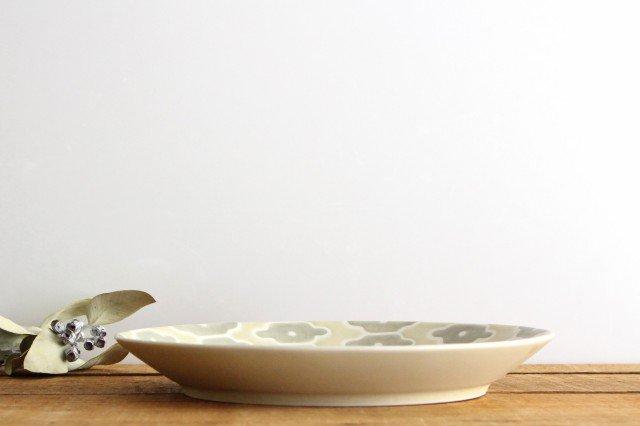 パスタ皿 グレーフラワー 磁器 すこし屋 砥部焼 画像4