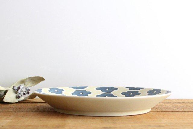 パスタ皿 インディゴフラワー 磁器 すこし屋 砥部焼 画像3