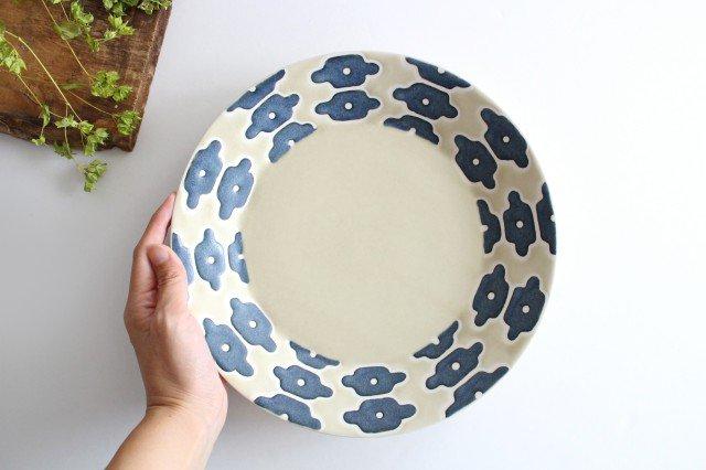 パスタ皿 インディゴフラワー 磁器 すこし屋 砥部焼 画像6