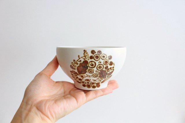 ボウル S さんぽみち ブラウン 磁器 すこし屋 砥部焼 画像2