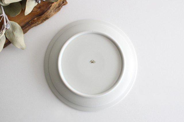 7寸皿 さんぽみち ブラウン 磁器 すこし屋 砥部焼 画像4