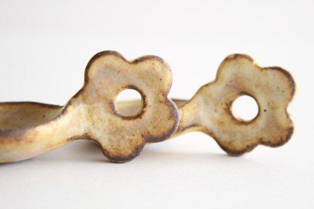 粉福 スプーン箸置き 花 陶器 木のね 画像2