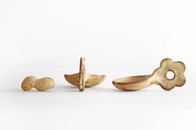 粉福 スプーン箸置き 花 陶器 木のね 画像5