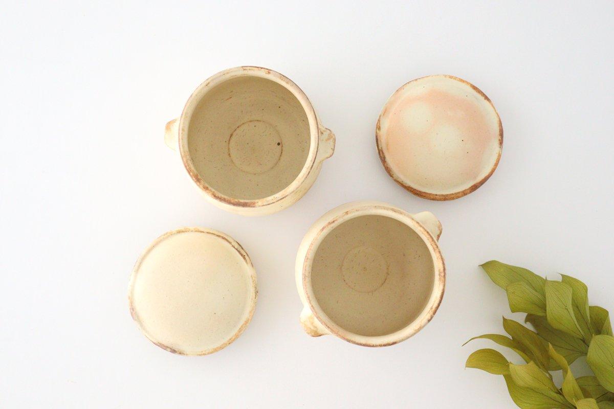 粉福 耳付きスープボウル honeypot 蓋つき 陶器 木のね 画像2