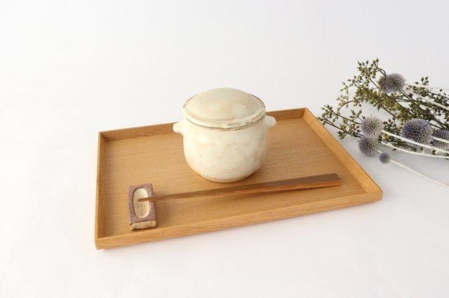 粉福 耳付きスープボウル honeypot 蓋つき 陶器 木のね 画像4