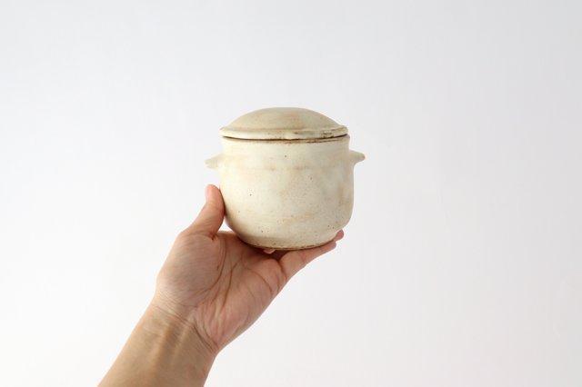 粉福 耳付きスープボウル honeypot 蓋つき 陶器 木のね 画像5