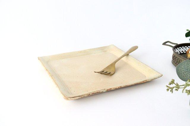粉福 角皿 大 陶器 木のね 画像3