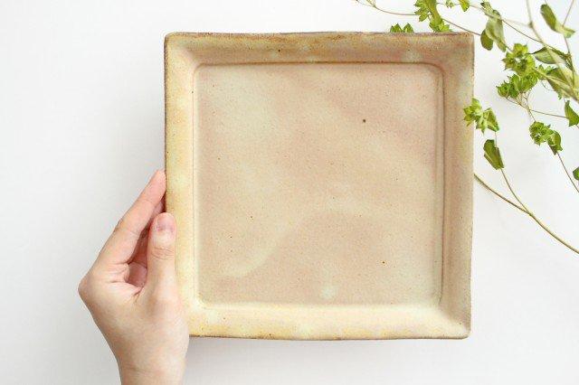 粉福 角皿 大 陶器 木のね 画像6