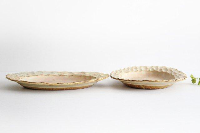 粉福 楕円リム皿 M 陶器 木のね 画像3
