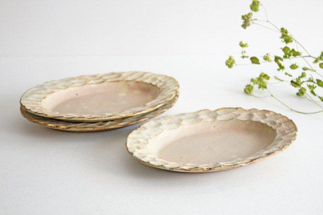 粉福 楕円リム皿 M 陶器 木のね 画像4
