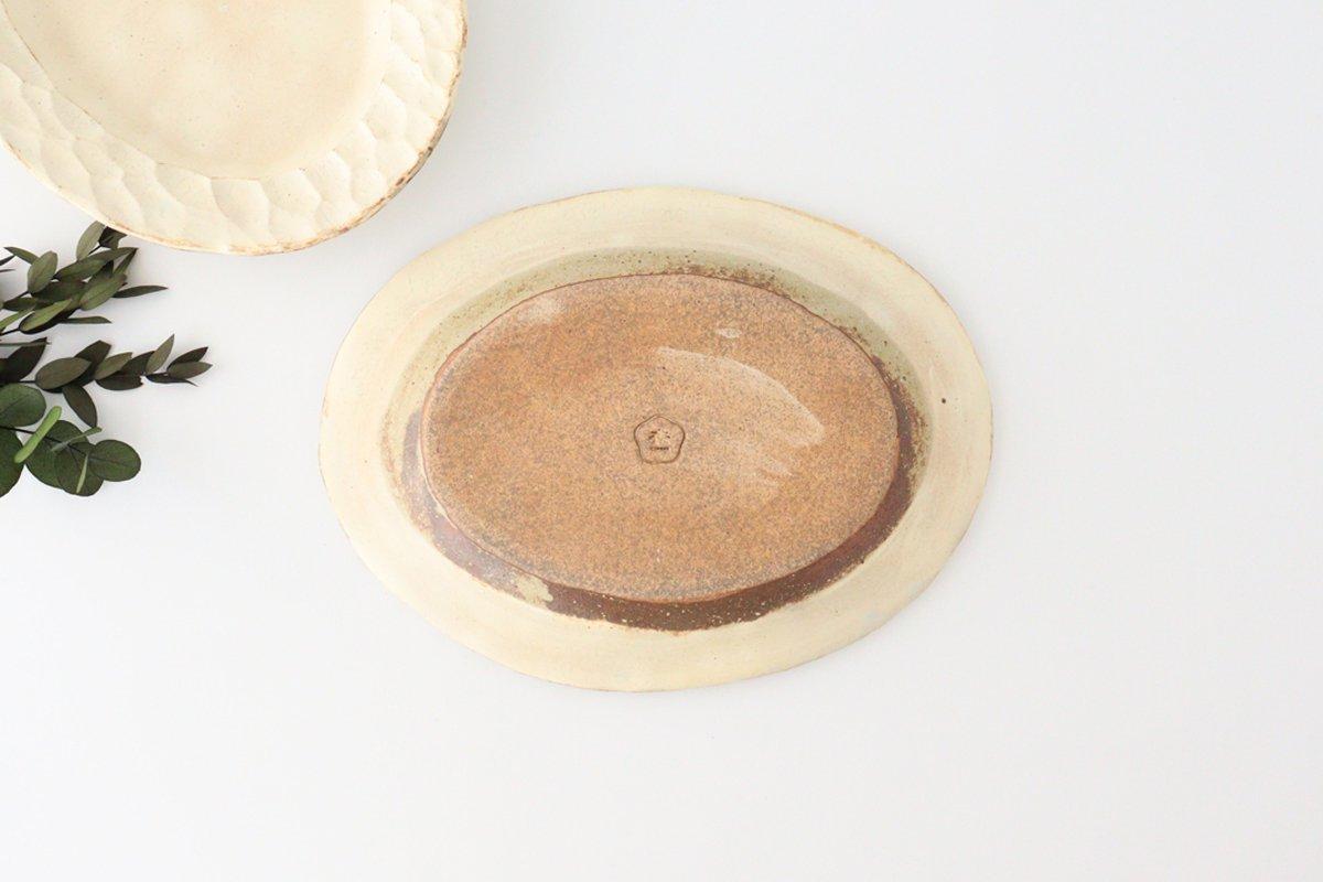 粉福 楕円リム皿 M 陶器 木のね 画像5