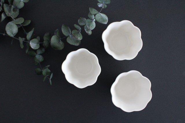 カヌレ茶器 茶杯 白 磁器 藤村佳澄 画像2