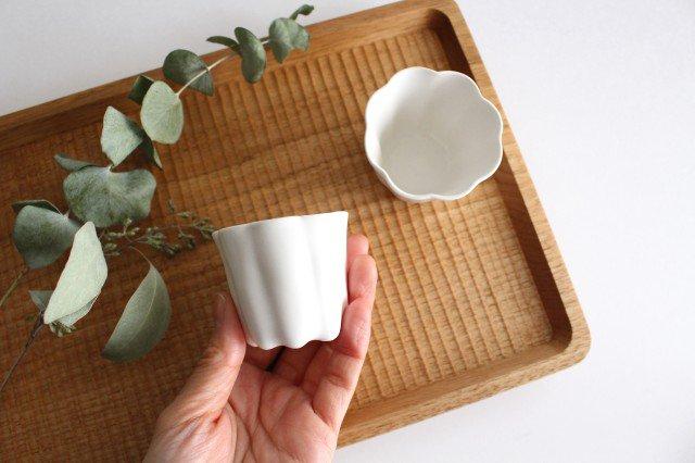 カヌレ茶器 茶杯 白 磁器 藤村佳澄 画像3