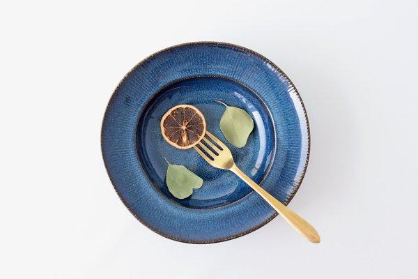 パスタプレート インディゴブルー 磁器 COLLIEN 美濃焼商品画像