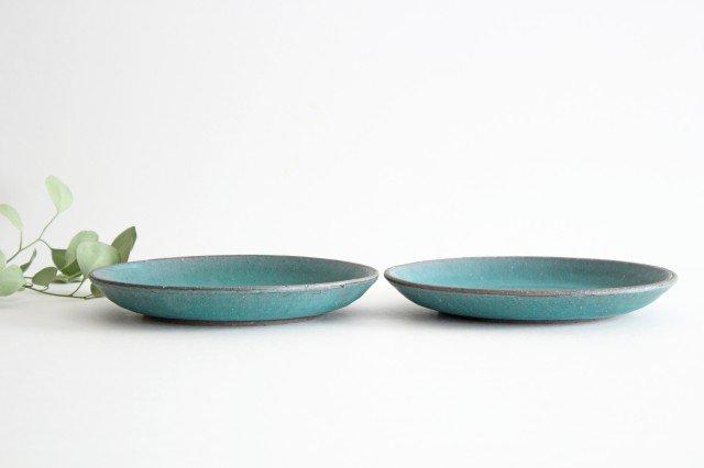 7寸皿 ブルー 陶器 オアシス 美濃焼 画像3