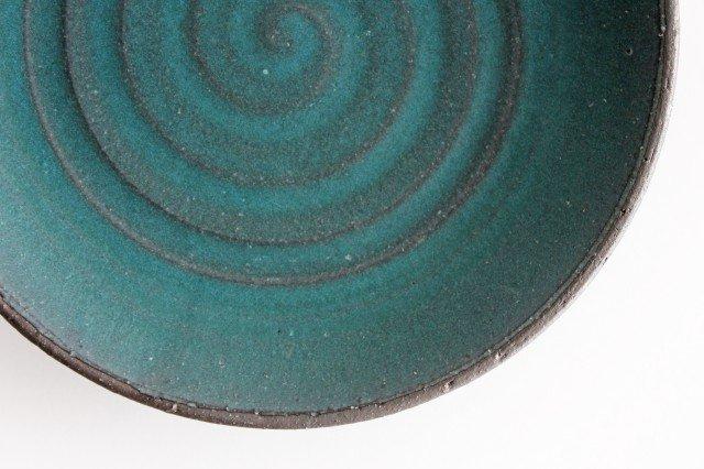 7寸皿 ブルー 陶器 オアシス 美濃焼 画像6