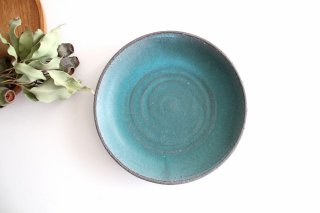 7寸皿 ブルー 陶器 オアシス 美濃焼商品画像