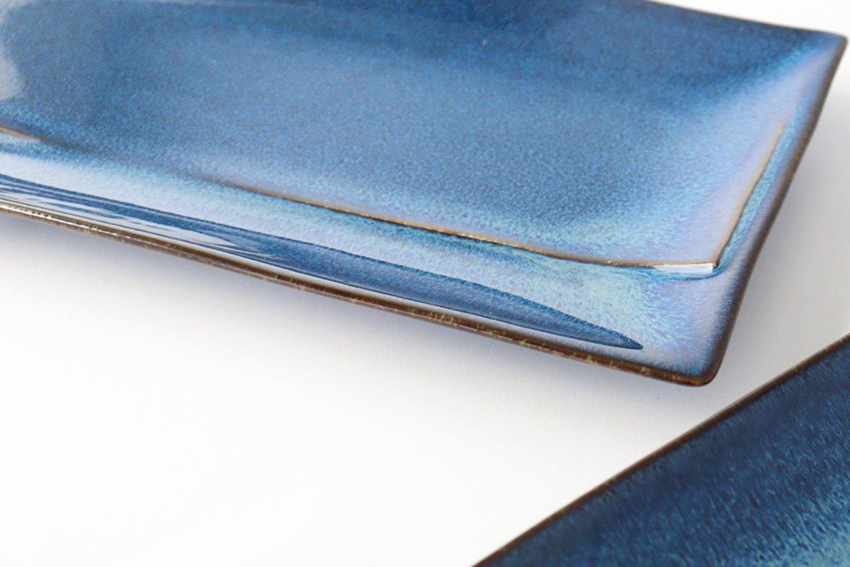 美濃焼 COLLIEN プレート L インディゴブルー 磁器 画像2