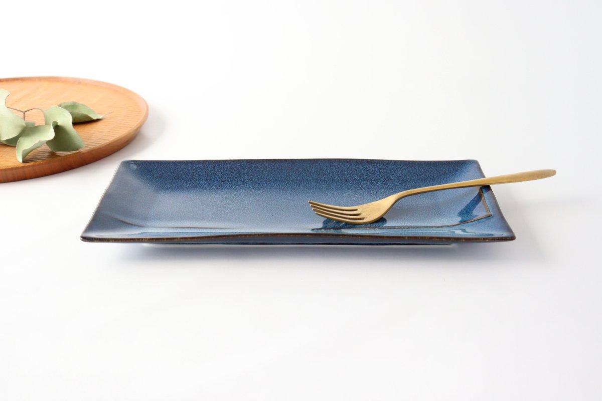 美濃焼 COLLIEN プレート L インディゴブルー 磁器 画像3