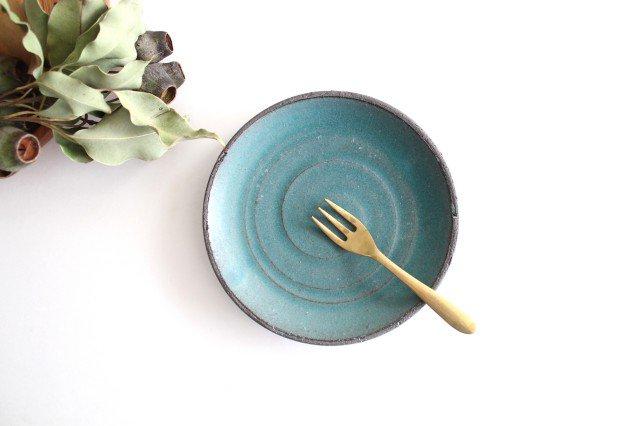 美濃焼 オアシス 5寸皿 ブルー 陶器